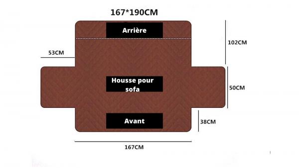 Dimension Housse Sofa 3 places